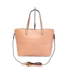 На фото 3 - Женская сумка тоут из искусственной кожи, цвет розовый
