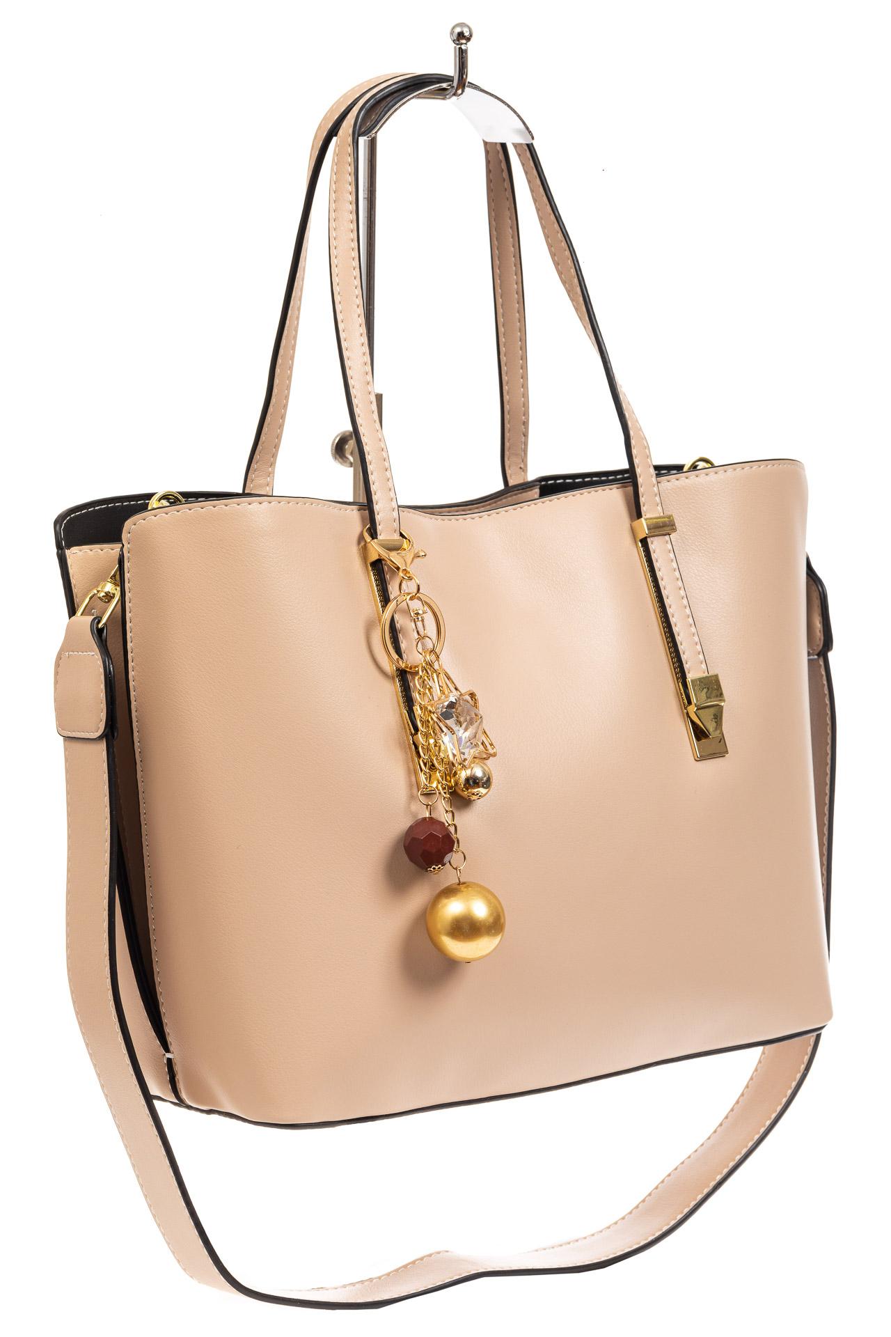 Женская сумка тоут из искусственной кожи, цвет молочный8670PJ0520/19