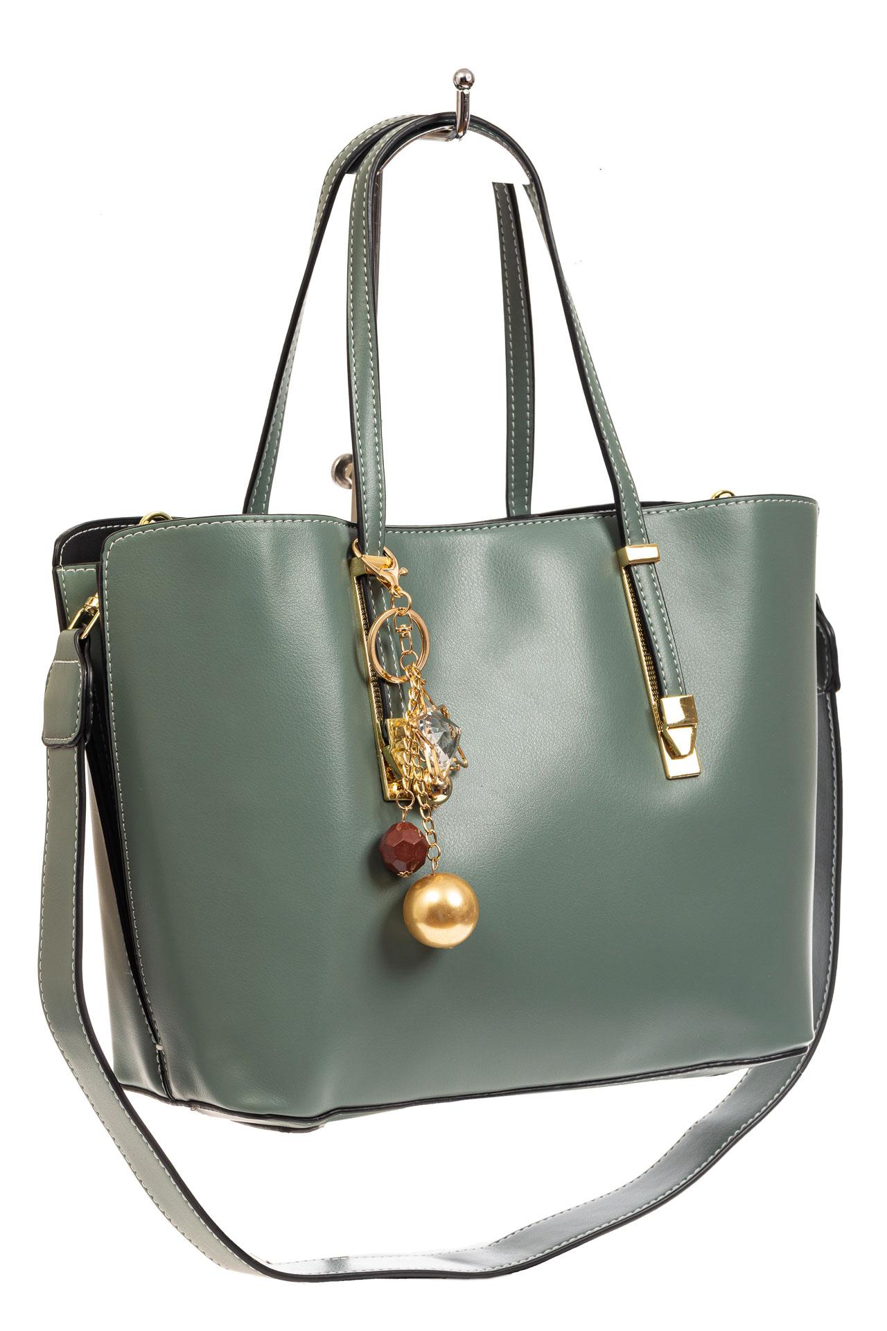 Женская сумка тоут из искусственной кожи, цвет серо-голубой8670PJ0520/2