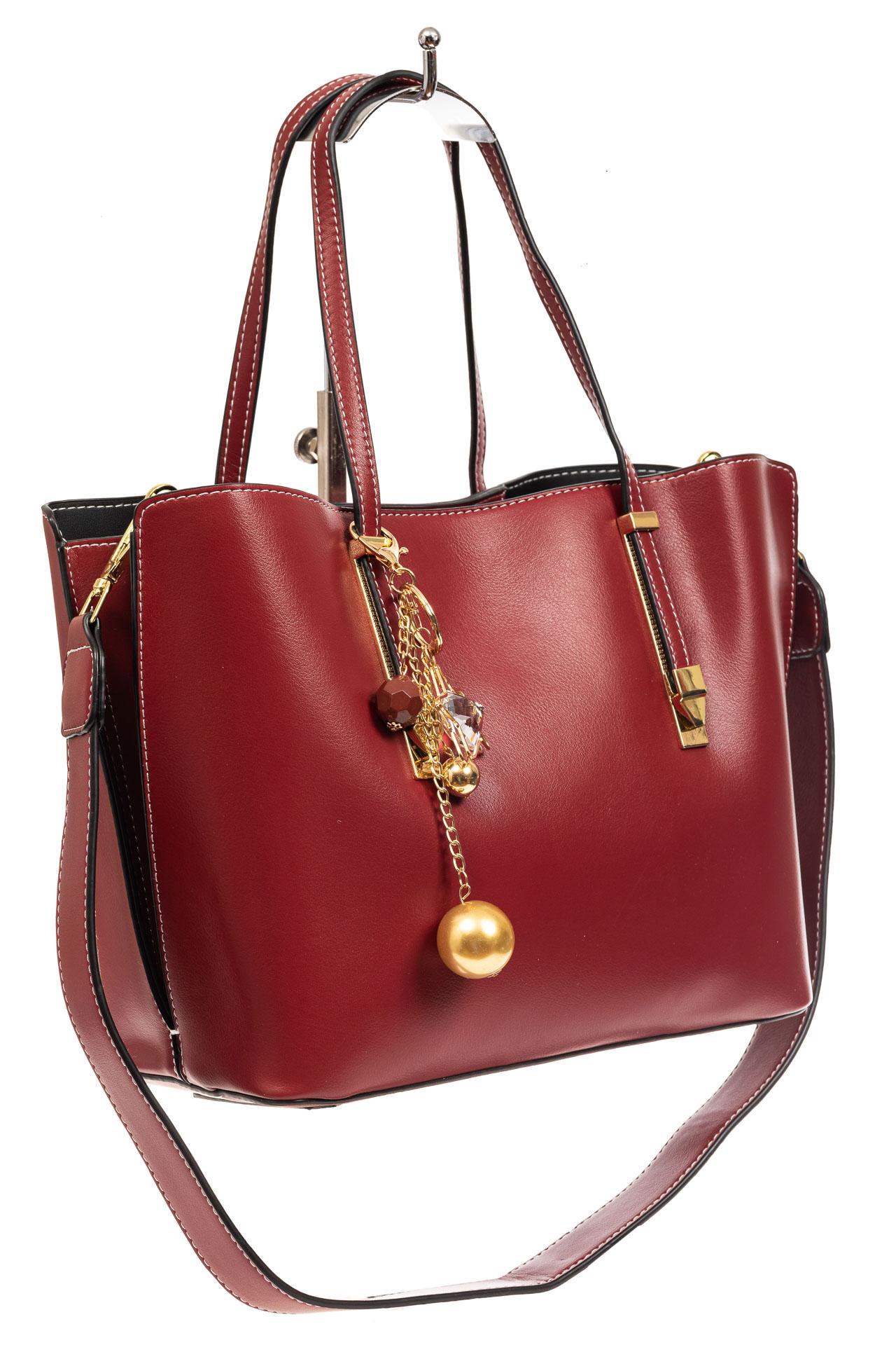 Женская сумка тоут из искусственной кожи, цвет бордовый8670PJ0520/4