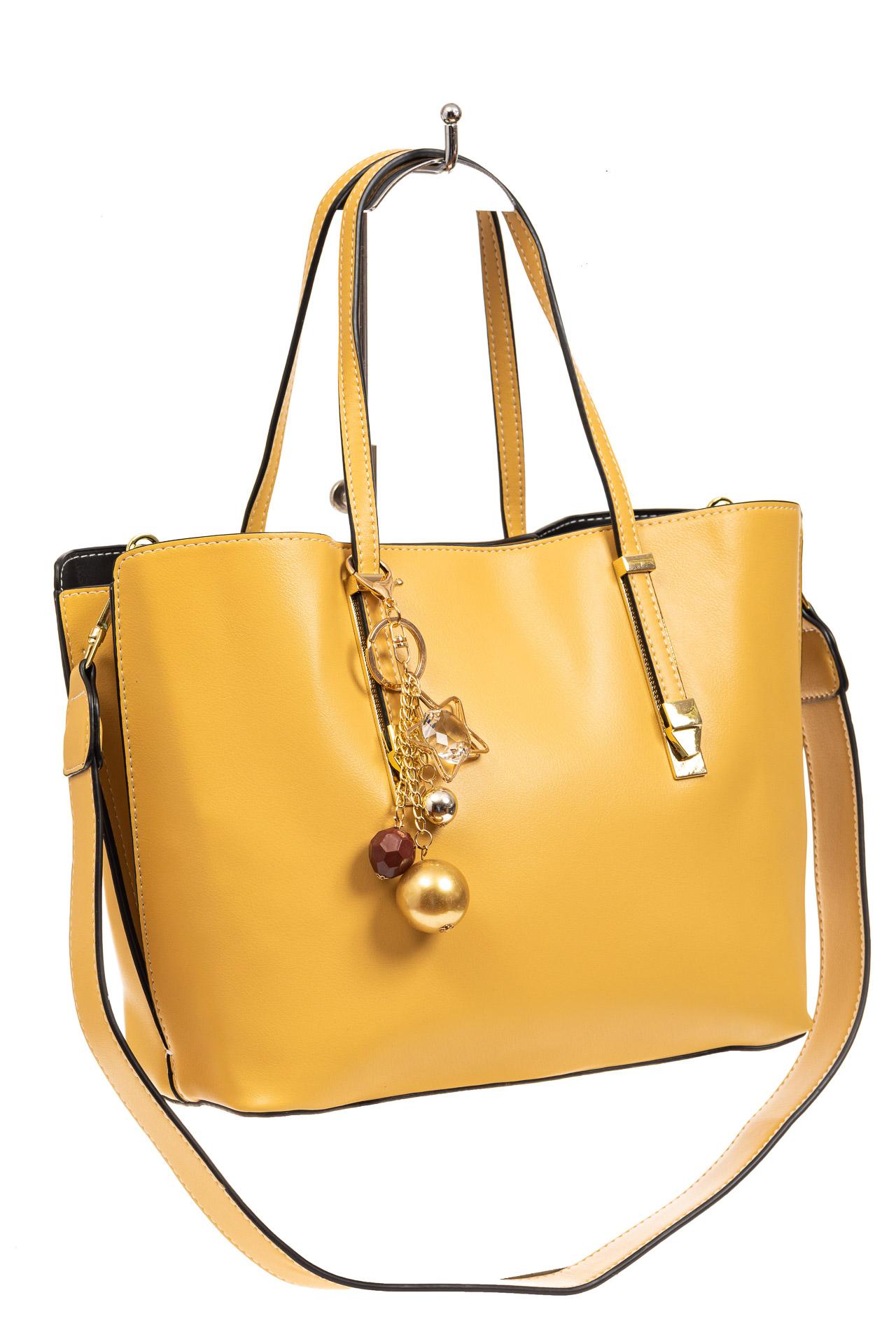 Женская сумка тоут из искусственной кожи, цвет желтый8670PJ0520/9