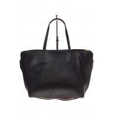 На фото 3 - Модный шоппер из искусственной кожи, цвет черный