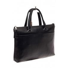 На фото 1 - Мужская сумка-папка из натуральной кожи, цв...