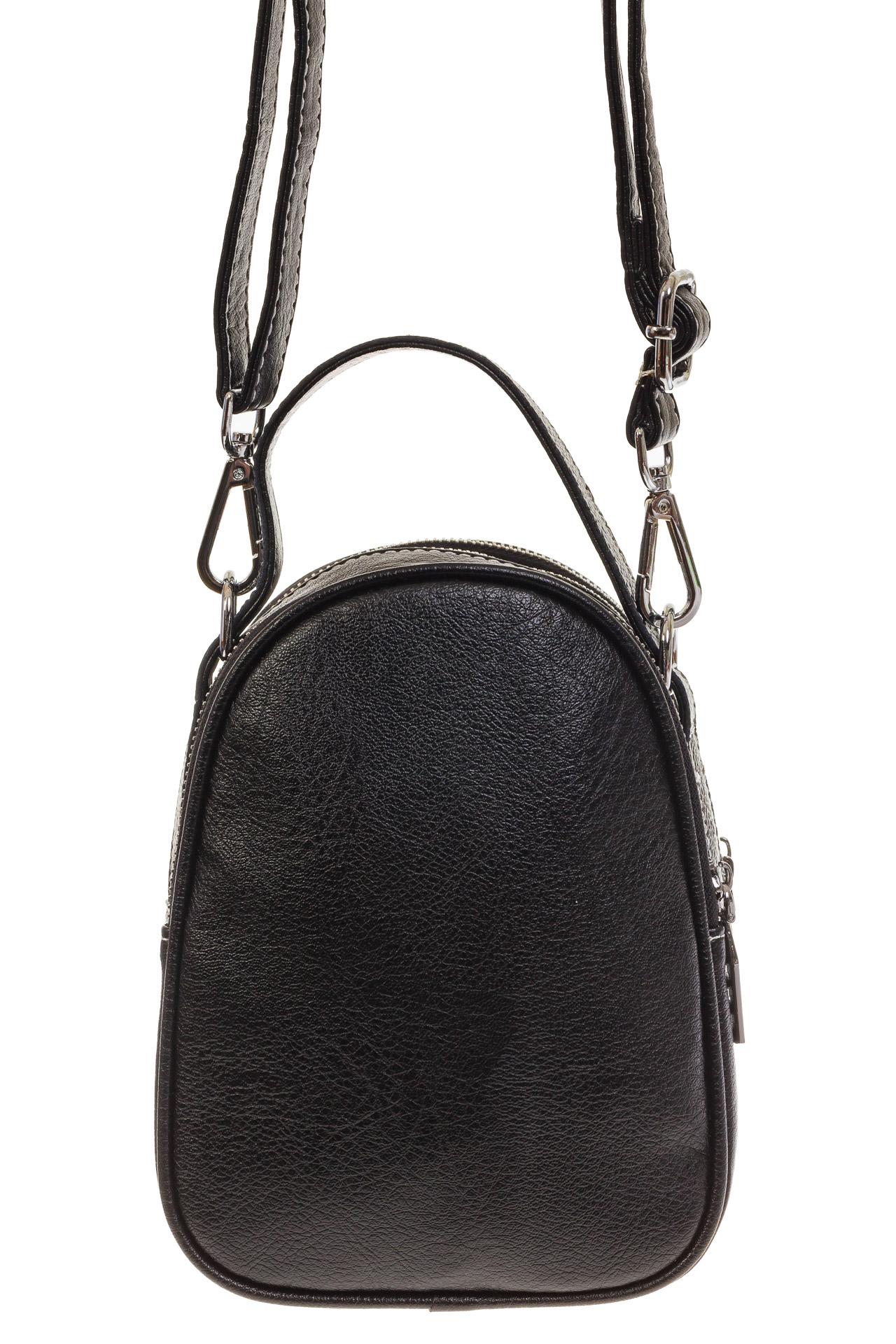 На фото 3 - Маленькая сумочка из серебристой искусственной кожи