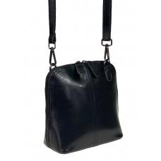 На фото 1 - Женский кожаный клатч, цвет чёрный