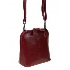 На фото 1 - Женский кожаный клатч, цвет бордо