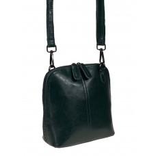 На фото 1 - Женский кожаный клатч, цвет тёмно-зелёный