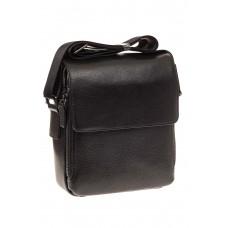 На фото 1 - Мужская сумка с клапаном, натуральная кожа,...