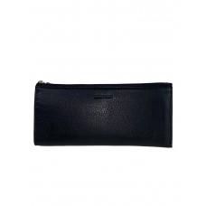 На фото 1 - Кожаный кошелёк-картхолдер, цвет чёрный