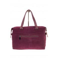 На фото 3 - Женская сумка замшевый тоут бордового цвета