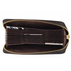 На фото 2 - Женское портмоне из натуральной кожи, цвет черный