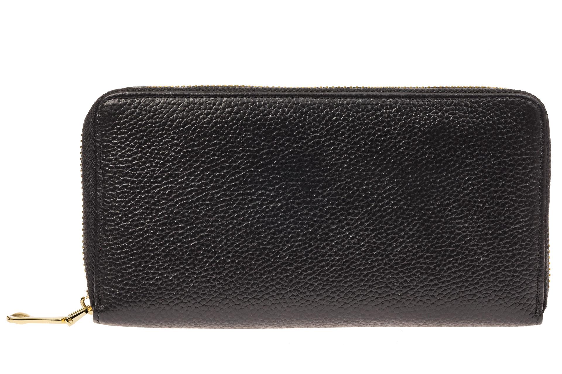 На фото 1 - Женское портмоне из натуральной кожи, цвет черный