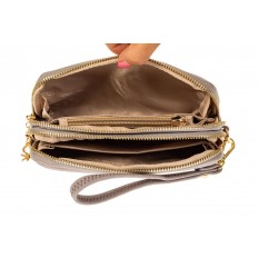 На фото 2 - Женский кошелек-клатч из искусственной кожи, цвет серый