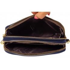 На фото 2 - Женский кошелек-клатч из искусственной кожи, цвет синий