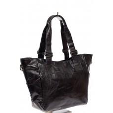 На фото 1 - Женская сумка-трапеция из искусственной кожи, цвет чёрный