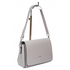 На фото 1 - Каркасная женская сумка из экокожи, цвет серый