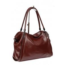 На фото 1 - Бордовая классическая сумка из фактурной экокожи
