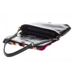 На фото 4 - Женская сумка flap из натурального меха, вертикальный мультицвет