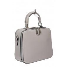 На фото 1 - Женская сумка с жёстким каркасом из экокожи, цвет серый