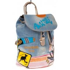 На фото 1 - Джинсовый рюкзак-торба