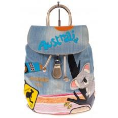 На фото 2 - Джинсовый рюкзак-торба