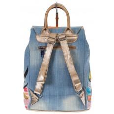 На фото 3 - Джинсовый рюкзак-торба