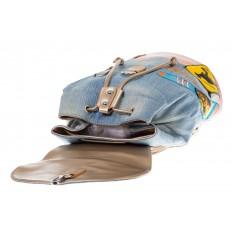 На фото 4 - Джинсовый рюкзак-торба