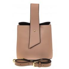 На фото 2 - Экстравагантная сумка из искусственной кожи, цвет бежевый