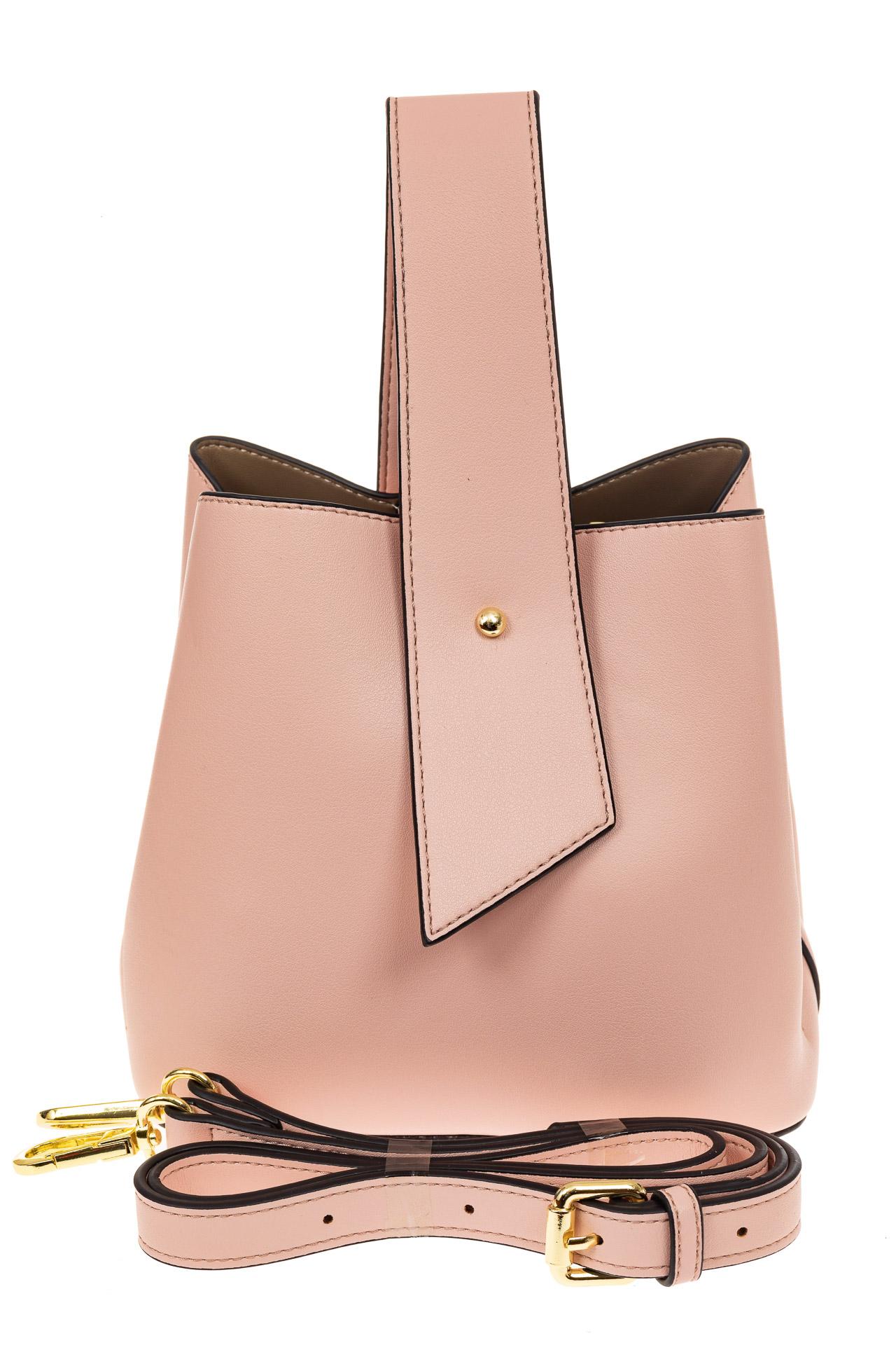 На фото 2 - Экстравагантная сумка из искусственной кожи, цвет розовый