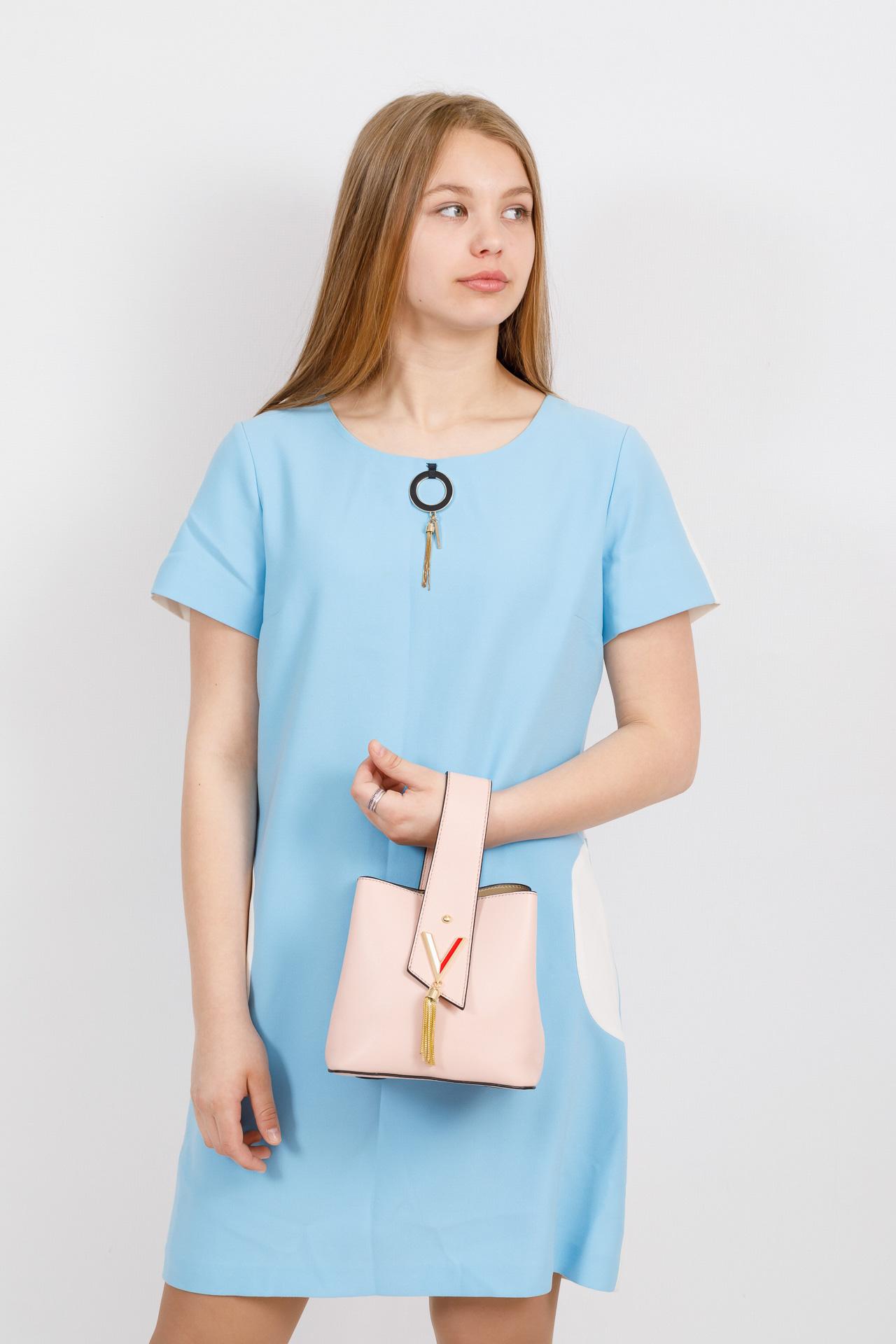 На фото 4 - Экстравагантная сумка из искусственной кожи, цвет розовый
