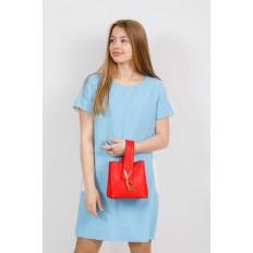 На фото 4 - Экстравагантная сумка из искусственной кожи, цвет красный