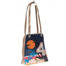 На фото 1 - Сумка-рюкзак из искусственной кожи, с коалой