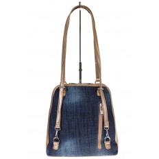 На фото 3 - Сумка-рюкзак из искусственной кожи