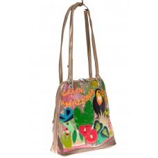 На фото 1 - Сумка-рюкзак из искусственной кожи