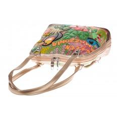 На фото 4 - Сумка-рюкзак из искусственной кожи с попугаем