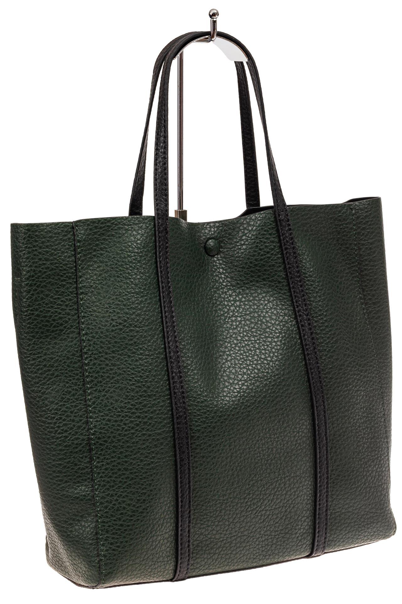 Сумка женская шоппер из натуральной кожи, цвет зеленый882NK1219/7
