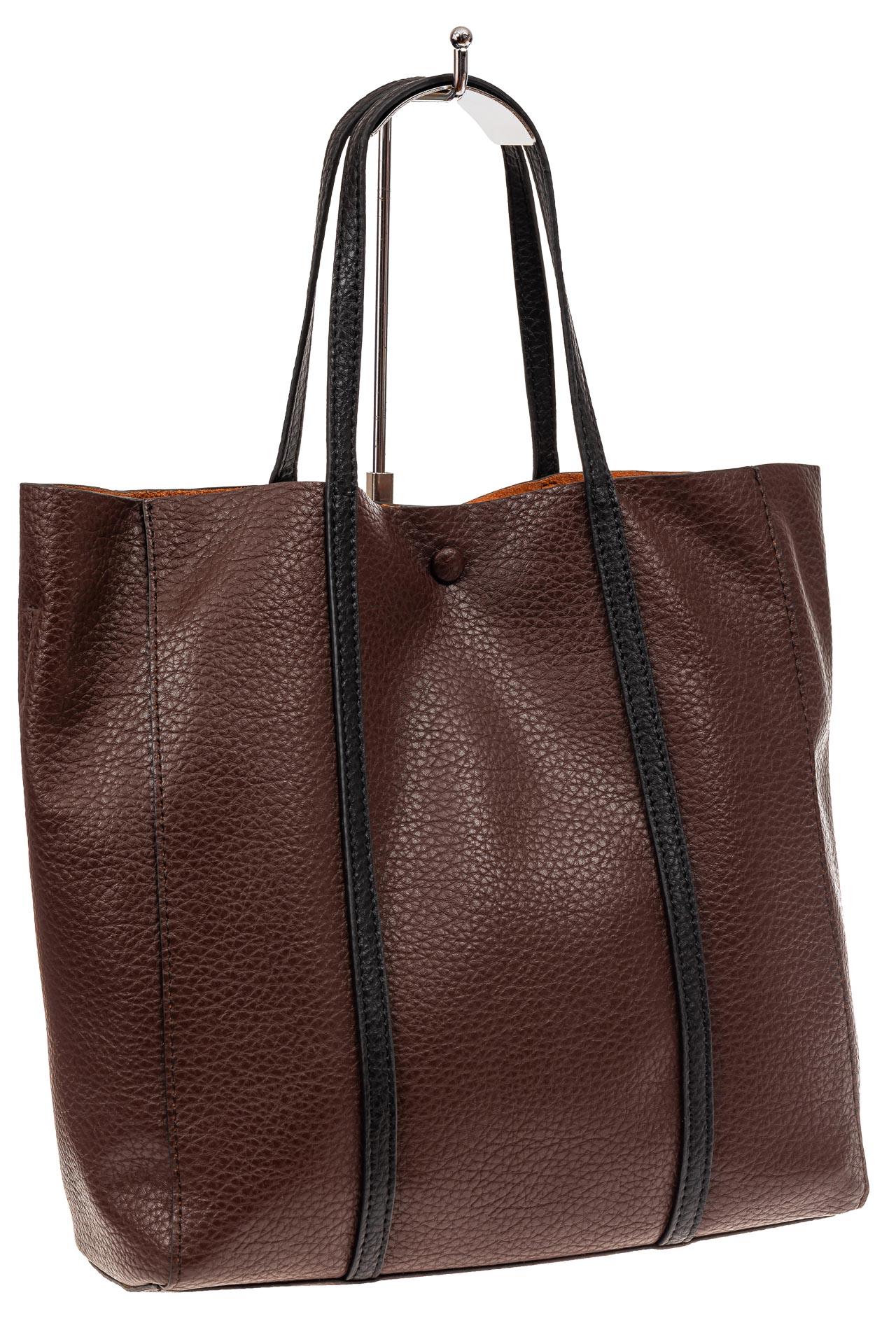 Сумка женская шоппер из натуральной кожи, цвет коричневый882NK1219/8