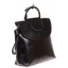На фото 1 - Сумка-рюкзак, чёрный