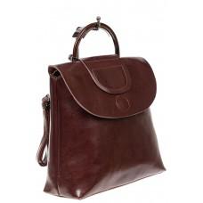 На фото 1 - Сумка-рюкзак, цвет бордовый