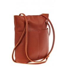 На фото 1 - Сумка женская мешок из натуральной кожи, цв...