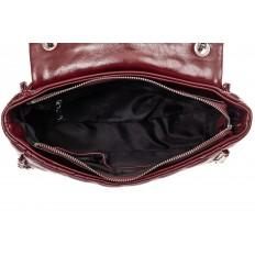 На фото 4 - Стеганая сумка женская из искусственной кожи, цвет черный