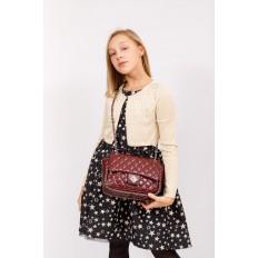 На фото 5 - Стеганая сумка женская из искусственной кожи, цвет бордо