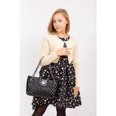 На фото 5 - Стеганая сумка женская из искусственной кожи, цвет черный