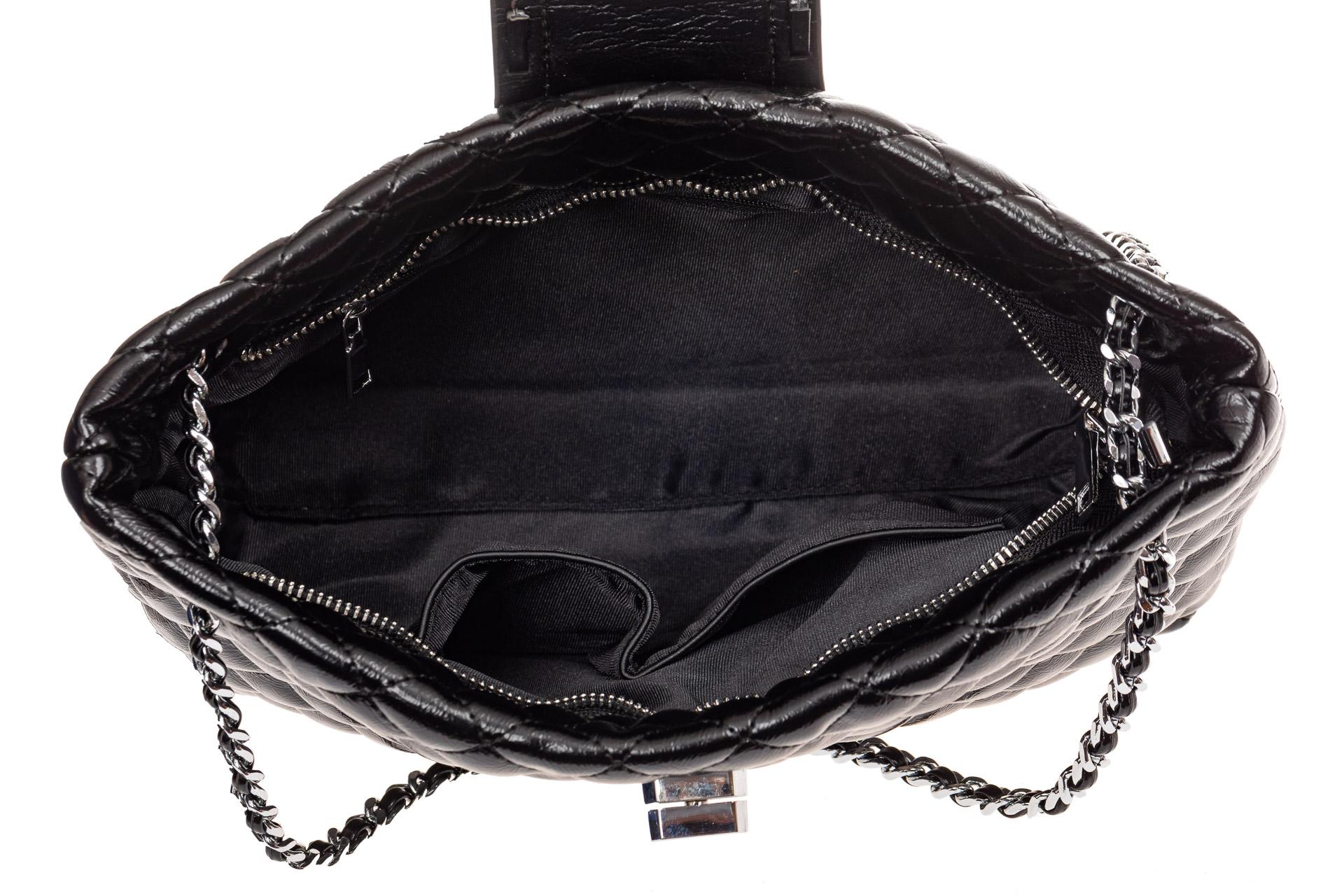 На фото 4 - Стеганая сумка женская из искусственной кожи, цвет бордо