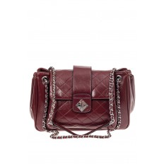 На фото 2 - Стеганая сумка женская из искусственной кожи, цвет бордовый