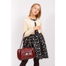 На фото 5 - Стеганая сумка женская из искусственной кожи, цвет бордовый