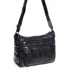 На фото 1 -  Женская классическая сумка из искусственной кожи, цвет чёрный