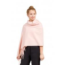 На фото 1 - Шарф-палантин из кашемира, цвет нежно-розовый