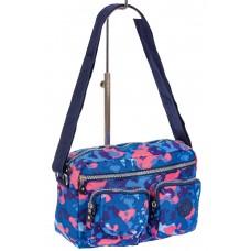 На фото 1 - Женская тканевая сумка кросс-боди с пятнистым принтом, мультицвет