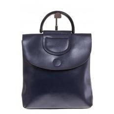 На фото 2 - Синий рюкзак – трансформер из натуральной кожи 8892